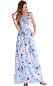 Blue Maxi Plus Size ...