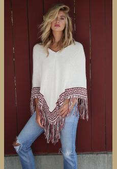 V neck tassel bottom beach shawl