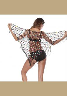 Tassel Transparent Beach Shawl