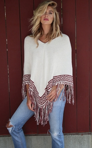 V neck tassel bottom...