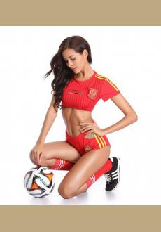 Cosplay Sexy Uniform Soccer Player Cheerleader World Cup Football Girl party dress