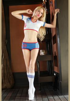 2018 World Cup Cheerleader Uniform Top  Shorts  Sock Games Costumes Women Party Outfit Fancy Dress Sports Competition Cl