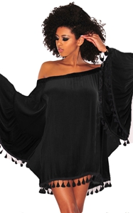 Black Off Shoulder B...