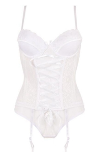 Lace Mesh Bustiers W...