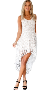 White Hollow Lace Nu...