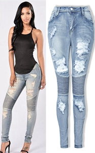 Women Slim Denim Str...
