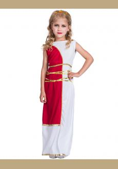 Party Girl Dress Kid Clothes Sleeveless Casual Greek Goddess Clothing Children Costume Carnival Dress Up 2018