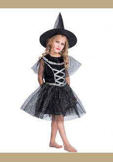 Funny Classic Halloween Kids Witch Costume Performance Dress Cosplay Costume Party Costume for Girls