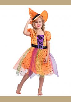 Fantast Costumes Child's Fancy Orange Witch Costume Dress