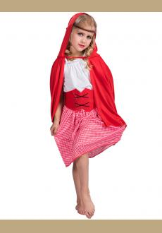Children Little Red Hood Costume Girls Halloween Fancy Dress