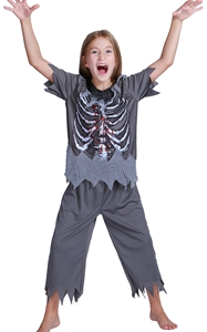 Boys Skeleton Zombie...