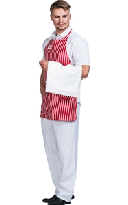 Men red stripe apron...