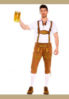 Oktoberfest Costume German Beer Maid Waiter Bavarian Guy Costumes Lederhosen Uniform Clothing for Men