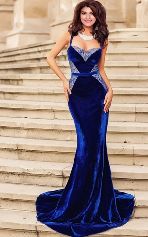 Evening gown of velv...