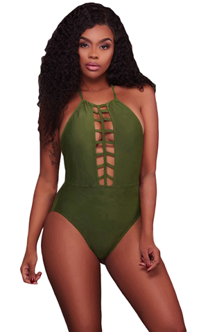 ARMY GREEN CAGED FRO...