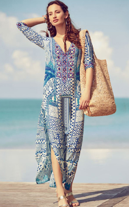 Boho Resort V Neck W...
