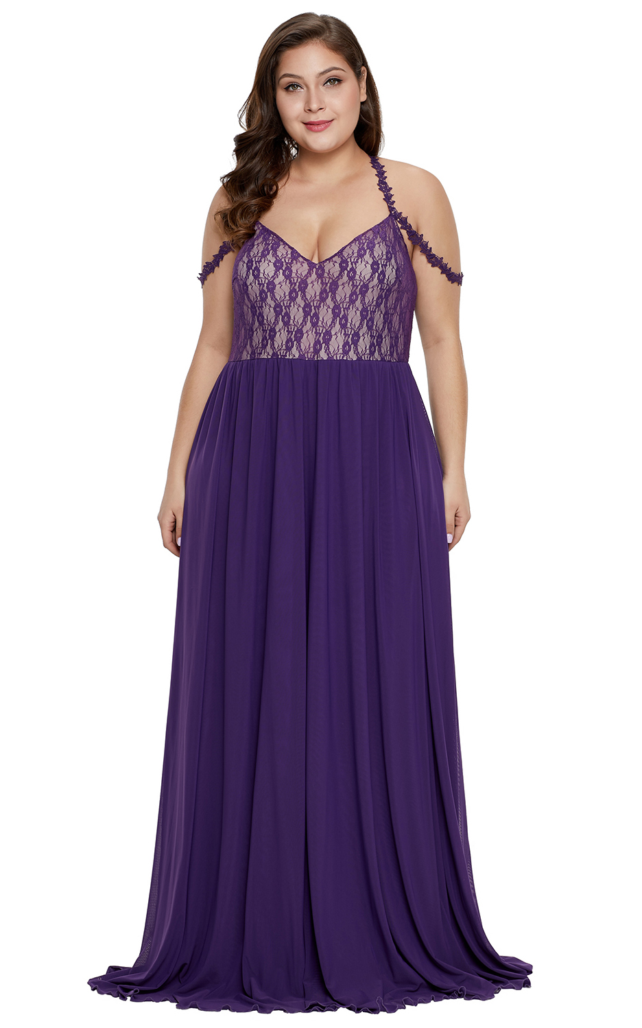 Purple Lace Bodice H...