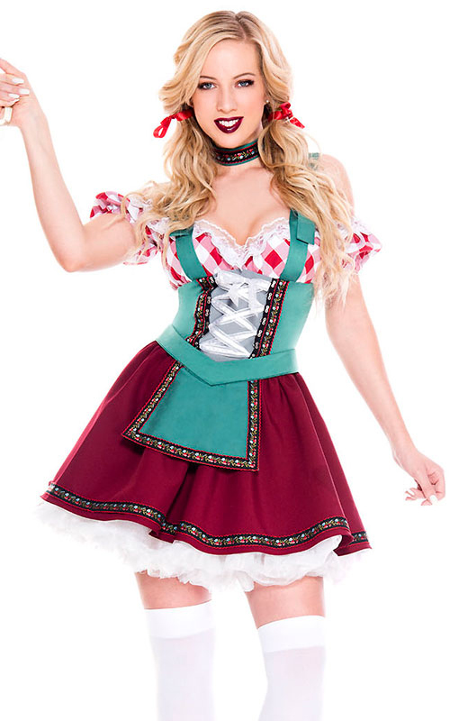 Womens Red Beer Maid...