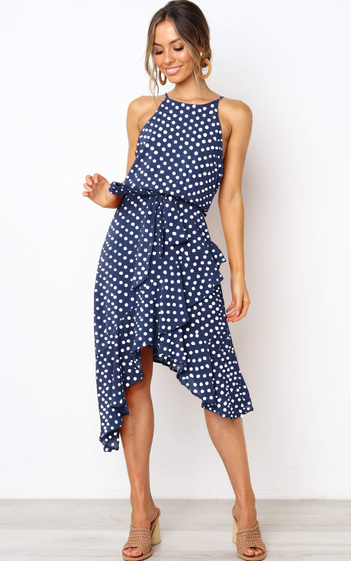 Womens Boho Polka-do...