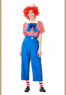 5pcs Unisex Funny Circus Clown Shirt and Trousers Adult Cosplay Costume Set
