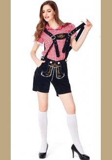 Oktoberfest Beer Outfits Dirndl Women's Blouse Dress Pants Bavarian Costume